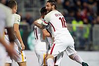 Esultanza gol Cengiz Under Roma Goal celebration with Daniele De Rossi <br /> Cagliari 06-05-2018 Sardegna Arena <br /> Football Calcio Serie A Cagliari - Roma Foto Gino Mancini / Insidefoto