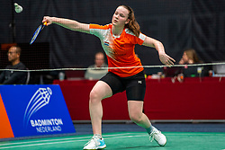 Kelly van Buiten during the Dutch Championships Badminton on February 1, 2020 in Topsporthal Almere, Netherlands