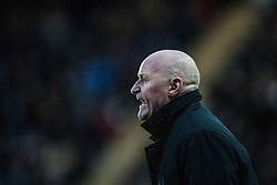 Dundee's manager John Brown.<br /> Falkirk 2 v 0 Dundee, Scottish Championship game at The Falkirk Stadium.<br /> © Michael Schofield.