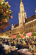 Belgie, Brussel, 28-7-2011De historische grote markt in de avond.Foto: Flip Franssen/Hollandse Hoogte