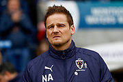 AFC Wimbledon Manager Neil Ardley  during the EFL Sky Bet League 1 match between Shrewsbury Town and AFC Wimbledon at Greenhous Meadow, Shrewsbury, England on 24 March 2018. Picture by Simon Davies.