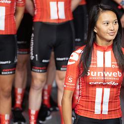 10-12-2019: Wielrennen: Teampresentatie Sunweb: Amsterdam: Coryn Rivera