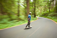 Long boarding in Ecola State Park. Cannon Beach, OR.