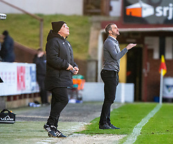 Dunfermline's manager Stevie Crawford. Dunfermline 5 v 1 Partick Thistle, Scottish Championship game played 30/11/2019 at Dunfermline's home ground, East End Park.