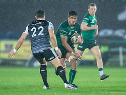 Jarrad Butler of Connacht lines up James Hook of Ospreys<br /> <br /> Photographer Simon King/Replay Images<br /> <br /> Guinness PRO14 Round 6 - Ospreys v Connacht - Saturday 2nd November 2019 - Liberty Stadium - Swansea<br /> <br /> World Copyright © Replay Images . All rights reserved. info@replayimages.co.uk - http://replayimages.co.uk