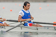 2005, World Rowing Championships, Nagaragawa International Regatta Course, Gifu, JAPAN: Monday  29.08.2005. CHI LM2- Felipe Leal Atero.  © Peter Spurrier/Intersport Images - email images@intersport-images.com