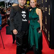 NLD/Utrecht/20121005- Gala van de Nederlandse Film 2012, Loek Peters en partner Ilse Heus