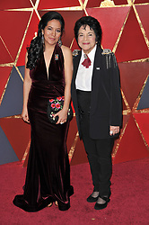 Dolores Huerta walking on the red carpet during the 90th Academy Awards ceremony, presented by the Academy of Motion Picture Arts and Sciences, held at the Dolby Theatre in Hollywood, California on March 4, 2018. (Photo by Sthanlee Mirador/Sipa USA)