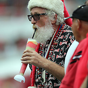 Santa fan during an NFL football game between the San Francisco 49ers  and the Tampa Bay Buccaneers on Sunday, December 15, 2013 at Raymond James Stadium in Tampa, Florida.. (Photo/Alex Menendez)