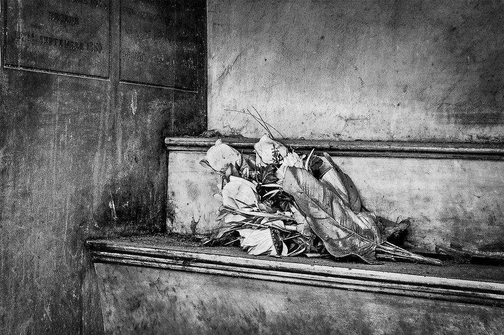 Flowers in the Crypt, Pere Lachaise, Paris, France