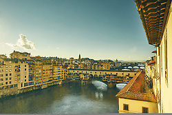 January 15, 2016 - ''Elevated view of Arno river and Ponte Vecchio, Florence, Italy' (Credit Image: © Cultura via ZUMA Press)