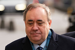 Edinburgh, Scotland, UK. 23 March, 2020.  Alex Salmond arrives at the High Court in Edinburgh on day when verdict will be announced by the jury. Iain Masterton/Alamy Live News