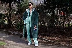 Street style, Alex Closet arriving at Leonard Fall-Winter 2018-2019 show held at pavillon Ledoyen, in Paris, France, on March 5th, 2018. Photo by Marie-Paola Bertrand-Hillion/ABACAPRESS.COM