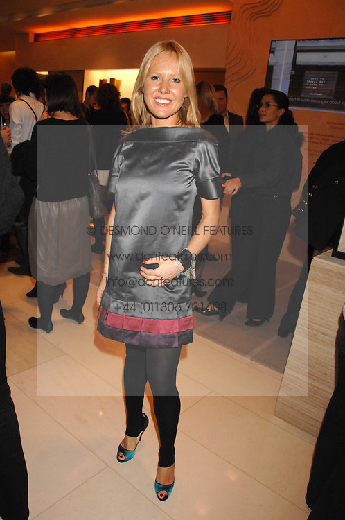 ALICE BAMFORD at a reception to launch the 2007 Louis Vuitton Christmas windows in collaboration with Central Saint Martins College of Art & Design held at 17-18 New Bond Street, London W1 on 7th November 2007.<br /><br />NON EXCLUSIVE - WORLD RIGHTS