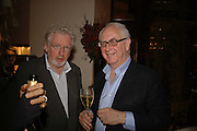 DON BOYD  AND HUGH HUDSON, Champagne reception celebrating 100 years of Chinese cinema  hosted by Hamish McAlpine of Tartan Films, Raising money for Care For Children, a foster care programme in China. Aspreys. New Bond St. London. 25 April 2006. ONE TIME USE ONLY - DO NOT ARCHIVE  © Copyright Photograph by Dafydd Jones 66 Stockwell Park Rd. London SW9 0DA Tel 020 7733 0108 www.dafjones.com