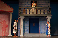 "Gilford High School's production of ""A Funny Thing Happened On The Way To The Forum"".    Karen Bobotas/for the Laconia Daily Sun"
