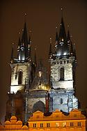 Church Of Out Lady Before Tyn at night - Prague - Czech Republic