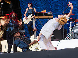 Paloma Faith plays the main stage, Saturday, T in the Park 2013.<br /> ©Michael Schofield.
