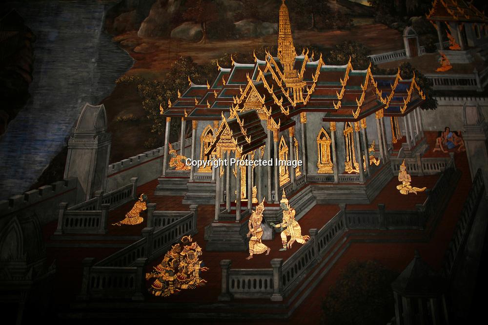 painting at the Grand Palace in Bangkok