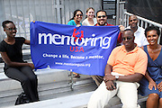 Mentoring USA at the Nike Youth Tennis  Challenge held at The Nike -Built regulation Tennis Court  on West 23rd Street & Broadway in New York  City . ..Hundreds of tennis fans and youth form New York  Parks and Rec. Athlethes for Charity, and Mentoring USA are treating to tips and guidance from Tennis Pros Roger Federer, Rafael Nadal and Serena Williams...