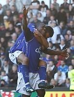 Photo: Steve Bond.<br />Derby County v Everton. The FA Barclays Premiership. 28/10/2007. Yakubu celebrates