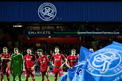 Bristol City line up - Rogan Thomson/JMP - 18/10/2016 - FOOTBALL - Loftus Road Stadium - London, England - Queens Park Rangers v Bristol City - Sky Bet EFL Championship.