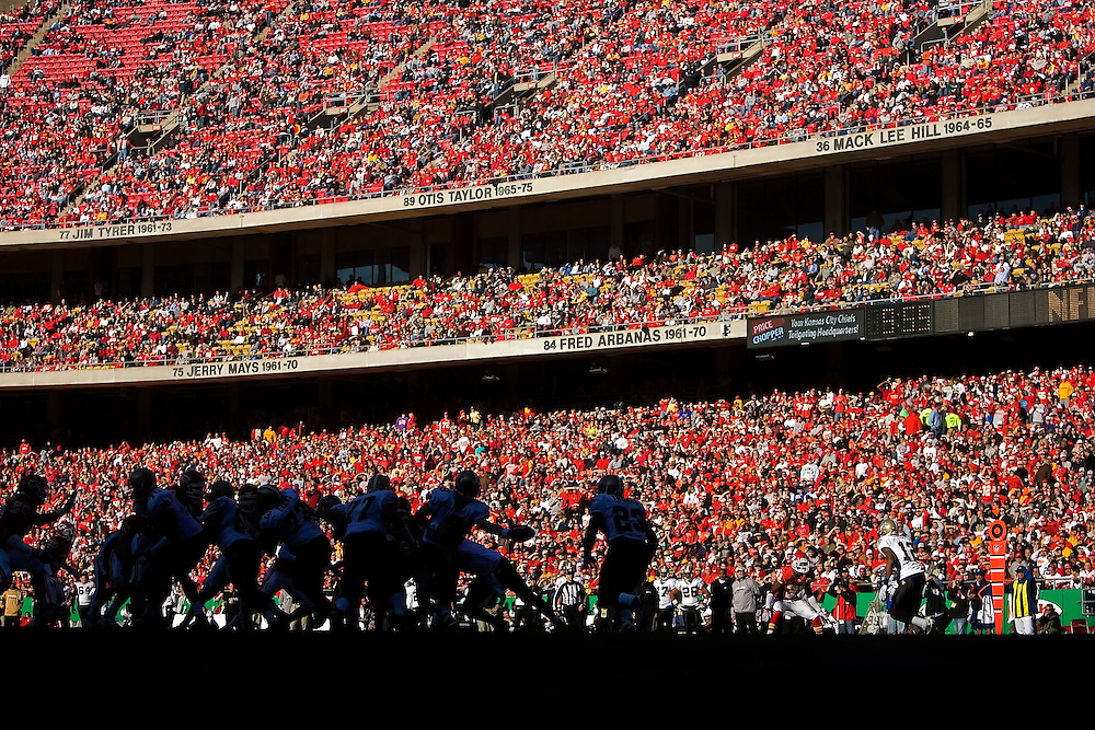 The Kansas City Chiefs and the New Orleans Saints faced off on a sunny afternoon on November 16, 2008 at Arrowhead Stadium.
