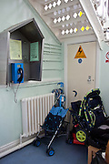 Prams stored in the special mother and baby unit.  HMP Styal, Wilmslow, Cheshire
