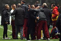 UEFA Champions league group H football match between  Braga v Galatasaray at Municipal (AXA)Stadium in Braga, Portugal 05.12.2012.Match Scored: Braga 1 - Galatasaray 2.Pictured: Coach Fatih Terim of Galatasaray.