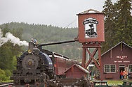Historic Steam Trains depart Hill City South Dakota in the summer season