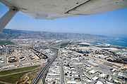Bay Of Haifa Industrial Zone Aerial View