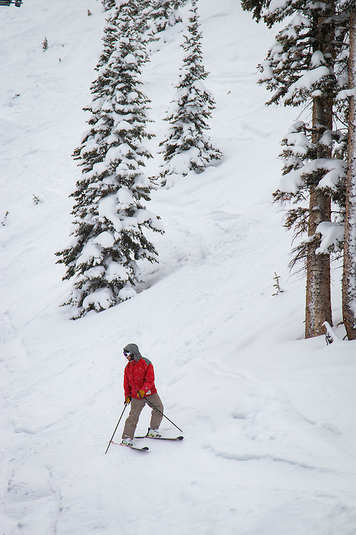 Skiing and riding at Monarch Mountain.