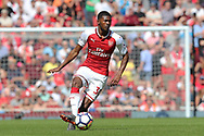Arsenal midfielder Ainsley Maitland-Niles (30) during the Premier League match between Arsenal and West Ham United at the Emirates Stadium, London, England on 22 April 2018. Picture by Bennett Dean.