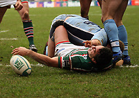 Photo: Rich Eaton.<br /> <br /> Leicester Tigers v Cardiff Blues. Heineken Cup. 13/01/2007 Daryl Gibson scores the 3rd try of the game for Leicester in the first half.