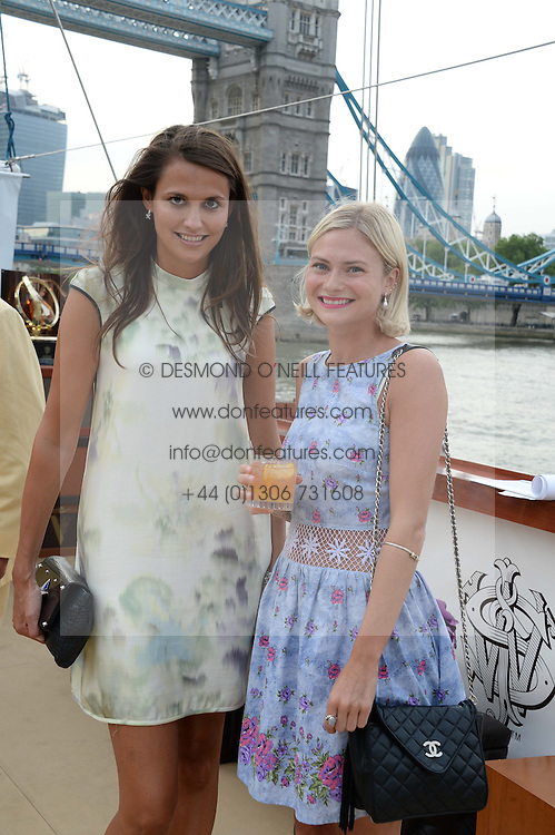 The Johnnie Walker Blue Label and David Gandy Drinks Reception aboard John Walker & Sons Voyager, St.Georges Stairs Tier, Butler's Wharf Pier, London, UK on 16th July 2013.<br /> Picture Shows:-Olivia Cole and Pandora Sykes.
