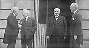 Paris Peace Conference which led to Treaty of Versailles (1919) after end of World War l.  Meeting between Prime Ministers, Orlando (Italy), Lloyd George (GB), Clemenceau (France) and President Woodrow Wilson (USA).