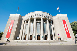 Exterior view of Volksbuhne Theatre in Mitte Berlin Germany