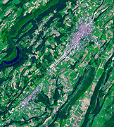 La Chaux-de-Fonds is a Swiss city in the Jura Mountains, founded in 1656. July 15, 2007.