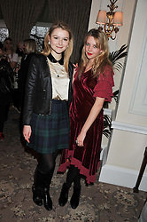 Left to right, AMBER ATHERTON and GRETA BELLAMACINA at the launch of Whole World Water at The Savoy Hotel, London on 22nd March 2013.