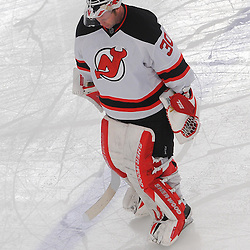 May 14, 2012: New Jersey Devils goalie Martin Brodeur (30) skates to the bench during a timeout in third period action in game 1 of the NHL Eastern Conference Finals between the New Jersey Devils and New York Rangers at Madison Square Garden in New York, N.Y. The Rangers defeated the Devils 3-0.