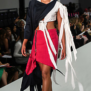 Designer Bryony Rodda showcases it lastest collection at the Graduate Fashion Week 2018, 4 June 4 2018 at Truman Brewery, London, UK.
