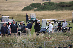 Donald Trump visit to Turnberry - 14 July 2018