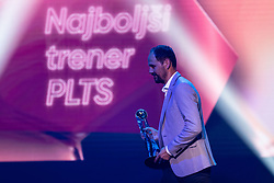 Ante Simundza head coach of NK Mura with trophy for best head coach in Prva Liga Telekom Slovenije for season 2018/19 during SPINS XI Nogometna Gala 2019 event when presented best football players of Prva liga Telekom Slovenije in season 2018/19, on May 19, 2019 in Slovene National Theatre Opera and Ballet Ljubljana, Slovenia. Photo by Grega Valancic / Sportida.com