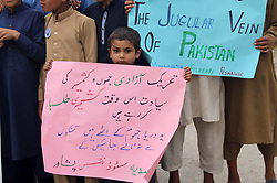 May 3, 2017 - Pakistan - PESHAWAR, PAKISTAN, MAY 03: Students are holding protest demonstration for acceptance .of their demands, arranged by Muttahida Tulba Mahaz at Peshawar press club on Wednesday, .May 03, 2017. (Credit Image: © PPI via ZUMA Wire)
