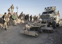 October 21, 2016 - Minde detector vehicle at the frontline near Khorsabad. (Credit Image: © Bertalan Feher via ZUMA Wire)