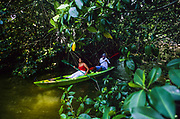 Laguna de los Micos, Parque Nacional Marino Punta Sal, includes mangrove forests and a small tropical forest, habitat for hundreds of species of birds.