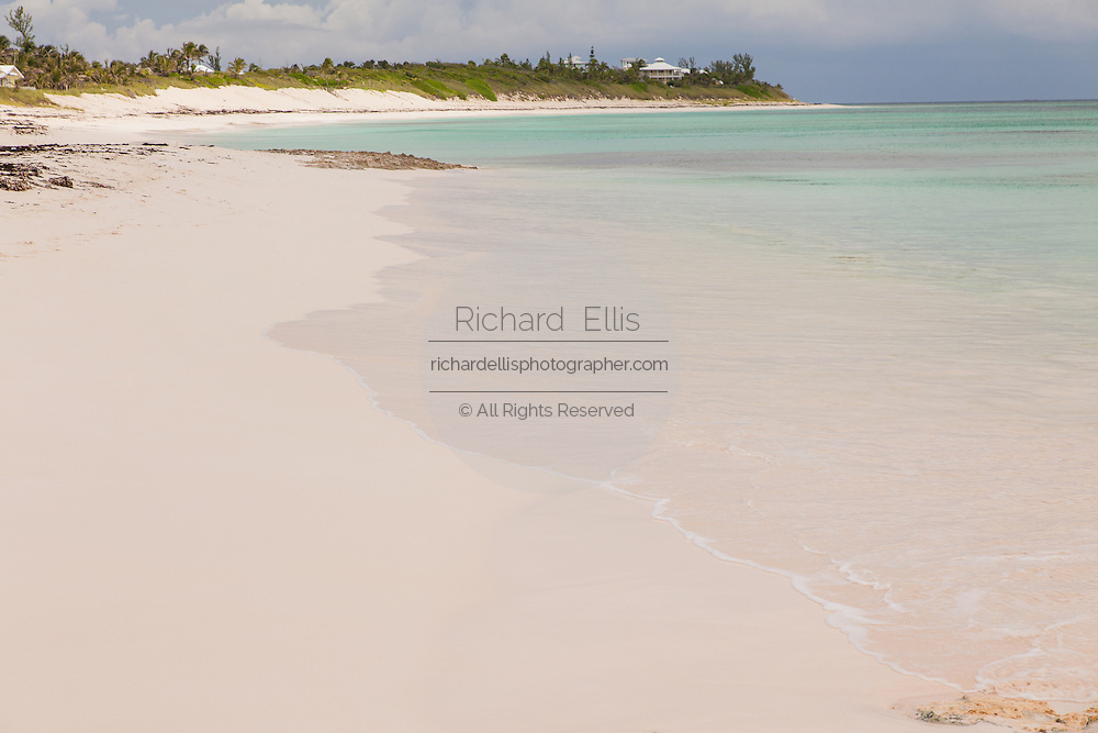 Long beach pink sands Hope Town, Elbow Cay Abacos, Bahamas.