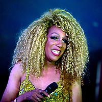 Sandra London at Birmingham Pride Birmingham West Midlands  United Kingdom 2021 photo by Chris Waynne