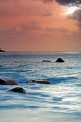 19.07.2015, Insel Praslin, SYC, auf den Seychellen, im Bild spektakulaerer Sonnenuntergang am Anse Lazio, Langzeitbelichtung // Holiday on the Seychelles at the Insel Praslin, Seychelles on 2015/07/19. EXPA Pictures © 2015, PhotoCredit: EXPA/ Eibner-Pressefoto/ Schulz<br /> <br /> *****ATTENTION - OUT of GER*****