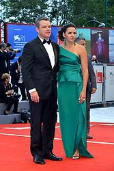 "74th Venice Film Festival, Red Carpet ""Suburbicon"". George Clooney, Amal Clooney, Matt Damon, Julianne Moore. 02 Sep 2017 Pictured: Matt Damon, Luciana Barroso. Photo credit: KILPIN / MEGA TheMegaAgency.com +1 888 505 6342"